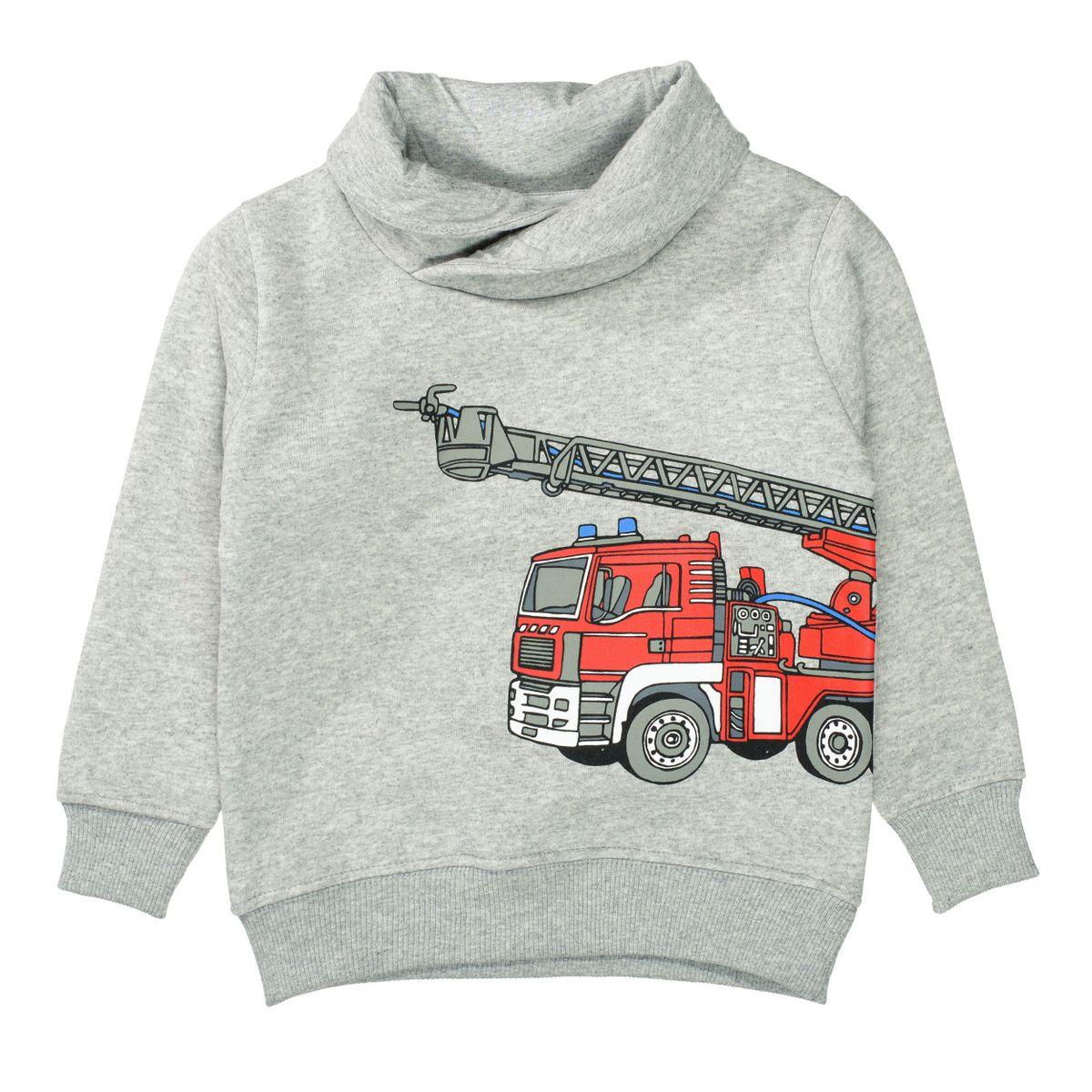 ATTENTION Sweatshirt mit Print - Grey Melange