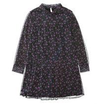 Kleid mit Allover-Print - Night Blue