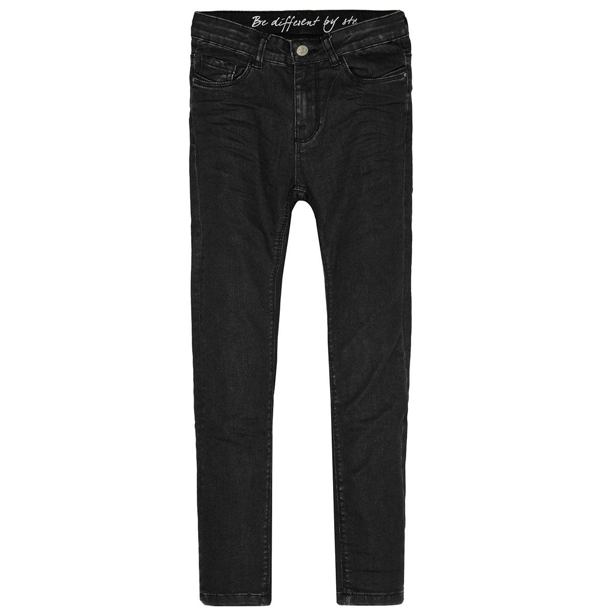 Mädchen Skinny Jeans Slim Fit - Black Denim