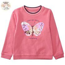 WENDEPAILLETTEN Sweatshirt Butterfly - Dark Rose
