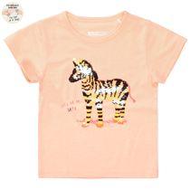 WENDEPAILLETTEN T-Shirt mit Print - Light Neon Peach
