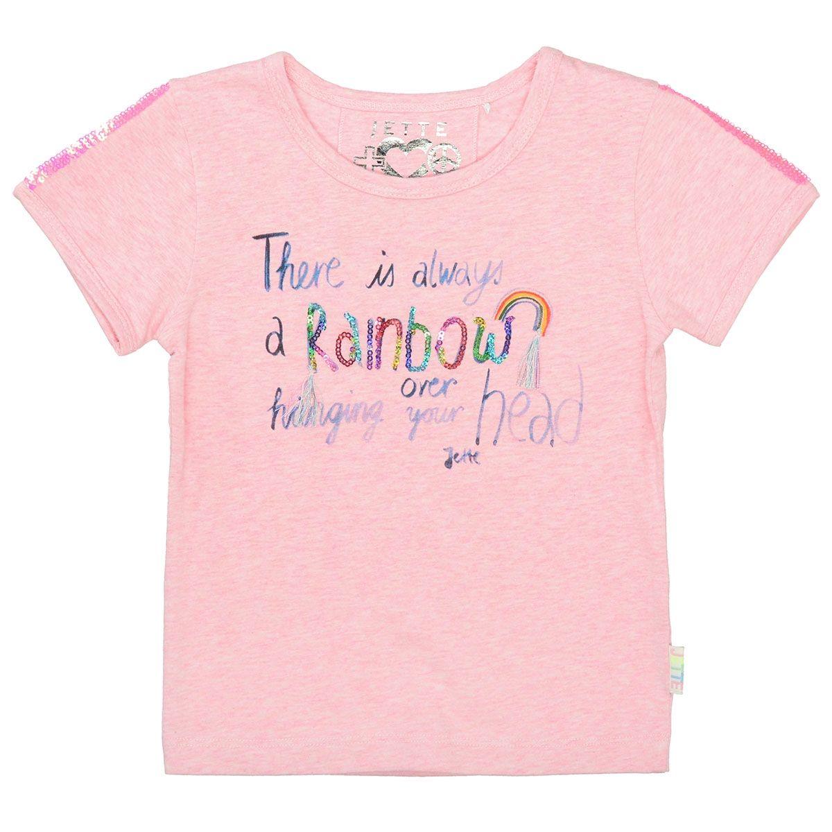 JETTE T-Shirt RAINBOW - Rose Melange