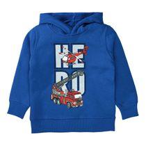 ATTENTION Sweatshirt mit coolem Front-Print - Kobalt Blue