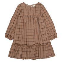 MARC O'POLO Kleid im Karo-Design - Warm Caramel