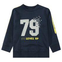Sweatshirt mit Print - Navy