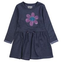 Kleid mit Pailletten-Applikation - Indigo AOP