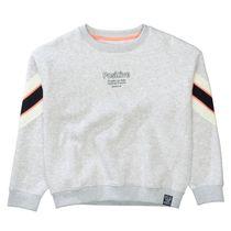 Oversize Sweatshirt mit Print - Ice Grey