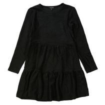 Kleid mit Struktur-Optik - Black