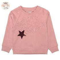 Sweatshirt mit Pailletten-Applikation auf der Front - Pale Rose