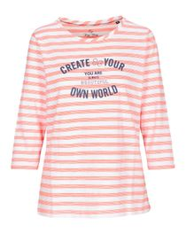 FRY DAY Shirt im Streifen-Design - Summer Coral