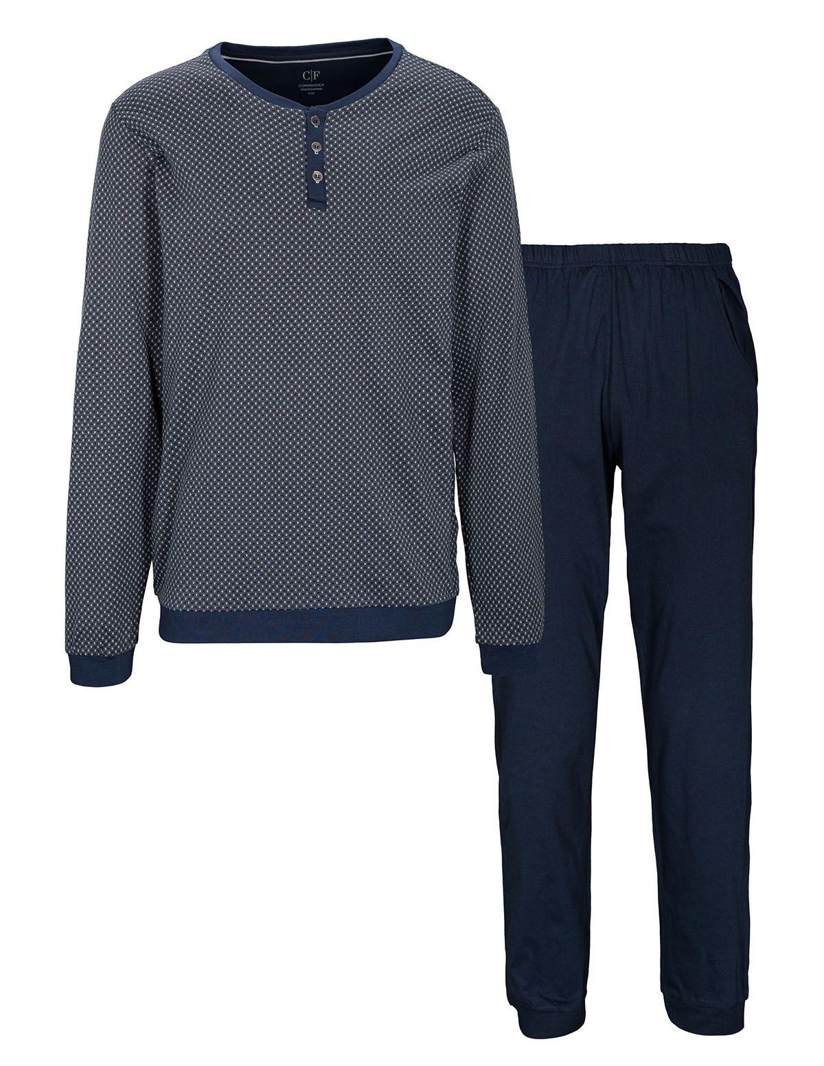 COMMANDER Schlafanzug - Silver Dark Blue