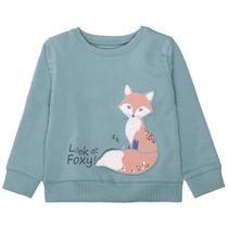 Sweatshirt mit Fuchs-Applikation - Mint