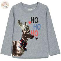 WENDEPAILLETTEN Sweatshirt Rentier - Mid Grey Melange