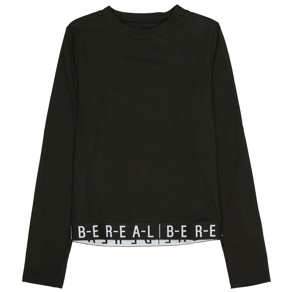 ATTENTION Rippshirt BE REAL - Black