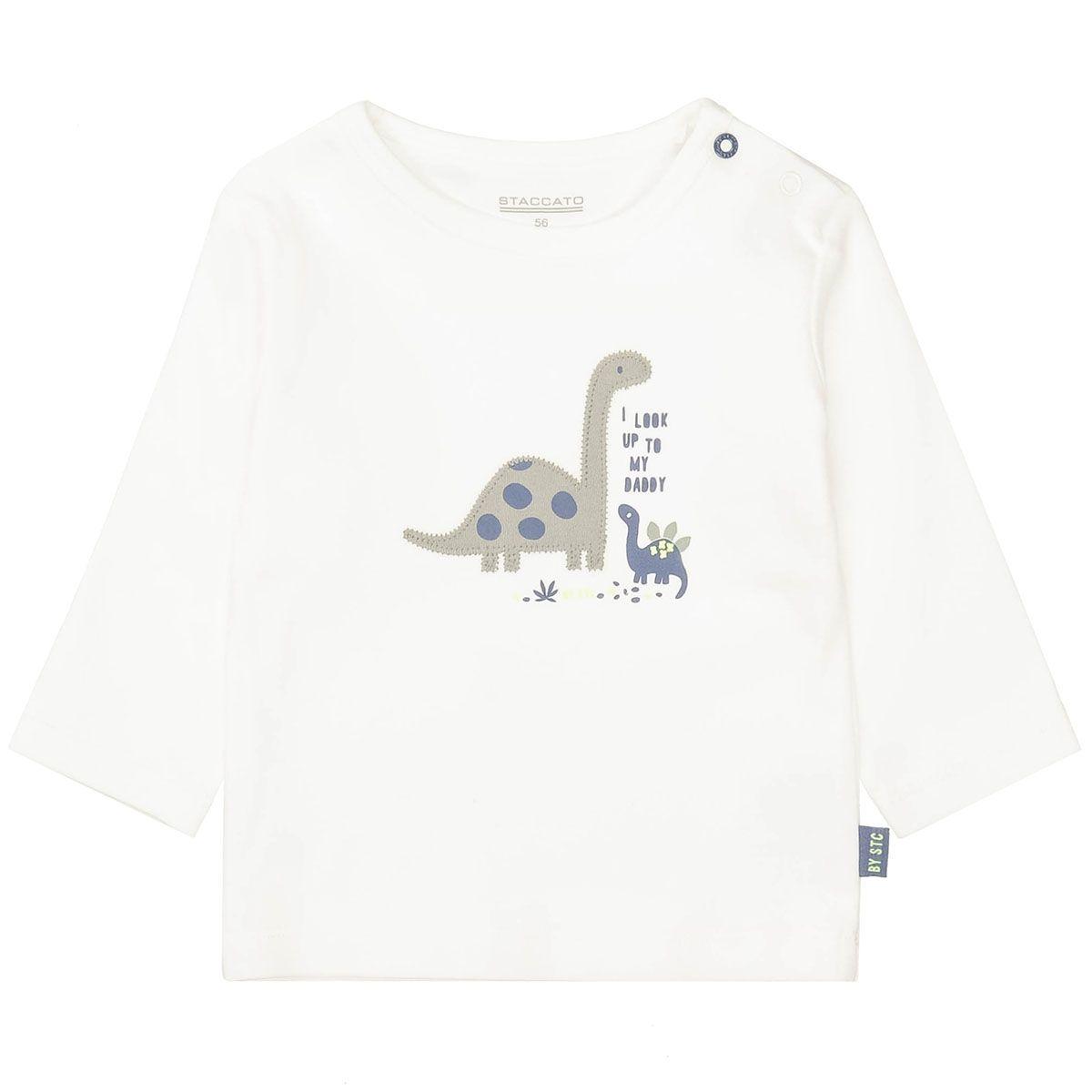 ORGANIC COTTON Shirt mit Applikation - Offwhite