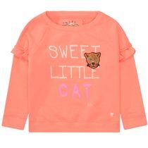 JETTE Sweatshirt mit Volants - Neon Peach