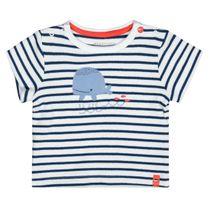 ORGANIC COTTON T-Shirt Streifen - White