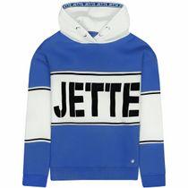 JETTE Hoodie mit Logo Print - Electric Blue