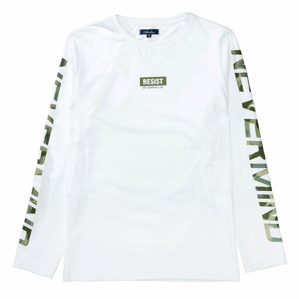 ATTENTION Langarmshirt RESIST - White