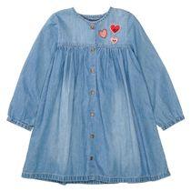 Jeanskleid mit Knopfleiste - Mid Blue Denim