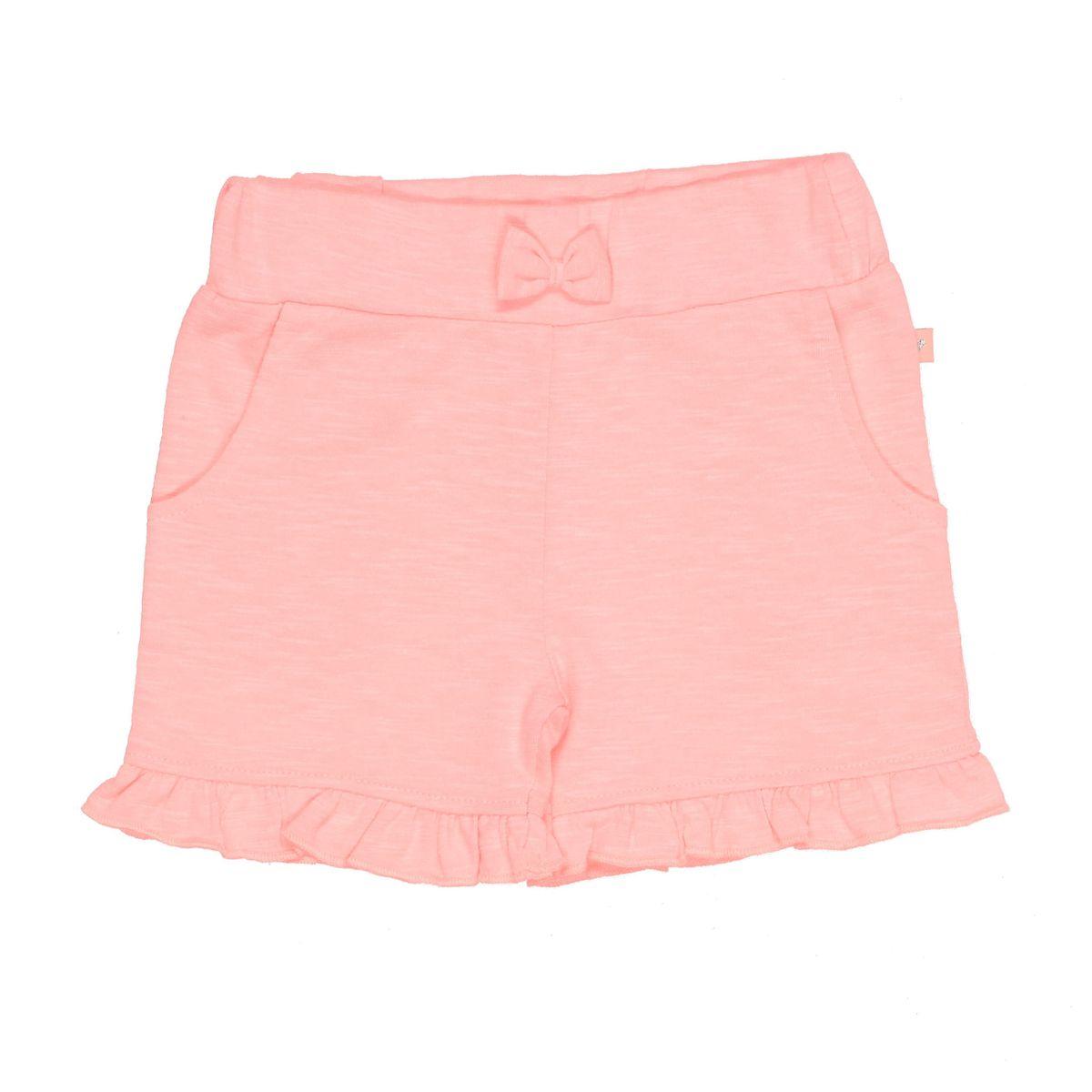 Shorts mit Rüschen - Neon Papaya
