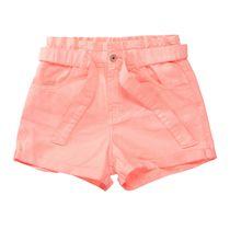 Shorts mit Bindegürtel - Neon Red