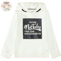 WENDEPAILLETTEN Hoodie NOT TODAY - Offwhite
