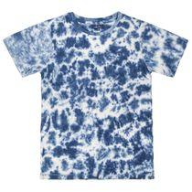 ATTENTION T-Shirt mit Batikmuster - Night Blue