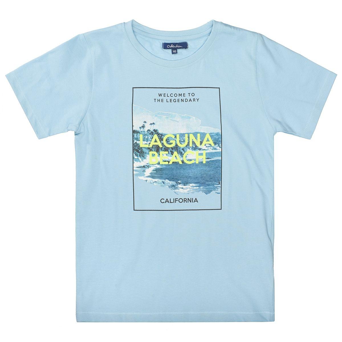 ATTENTION T-Shirt mit Print - Light Ocean