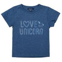 ATTENTION T-Shirt mit Wording-Print - Deep Blue