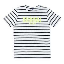 ATTENTION T-Shirt im Streifen-Design - Clear White