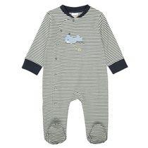ORGANIC COTTON Pyjama mit Allover-Print - Marine Streifen