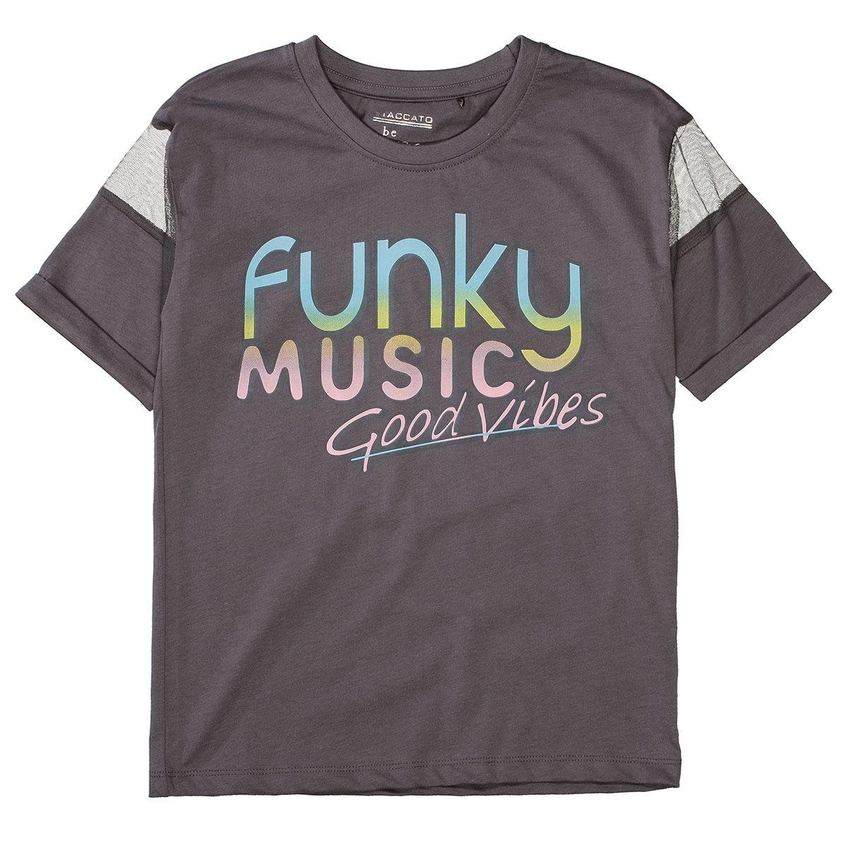 T-Shirt FUNKY MUSIC - Stone Grey