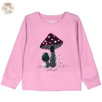 WENDEPAILLETTEN Sweatshirt mit Pilz-Motiv - Lavendel