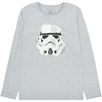 Langarmshirt Star Wars Stormtrooper - Warm Grey Melange