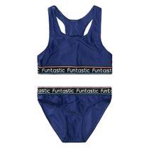Bikini mit Schriftzug - Navy