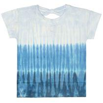 T-Shirt mit Batik-Muster - Sea Blue