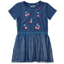 Kleid mit Print - Dark Blue Melange