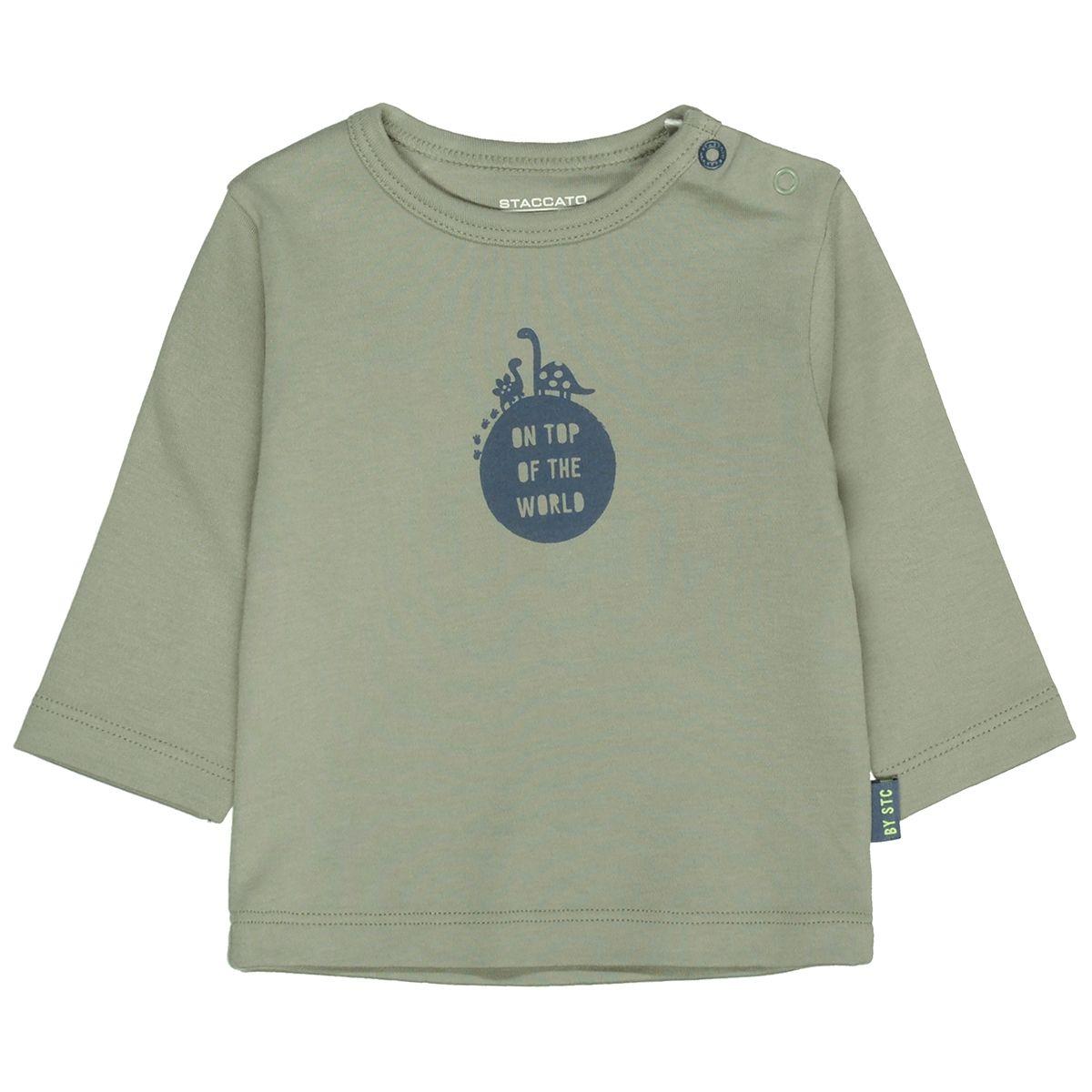 ORGANIC COTTON Langarmshirt TOP OF THE WORLD - Soft Olive