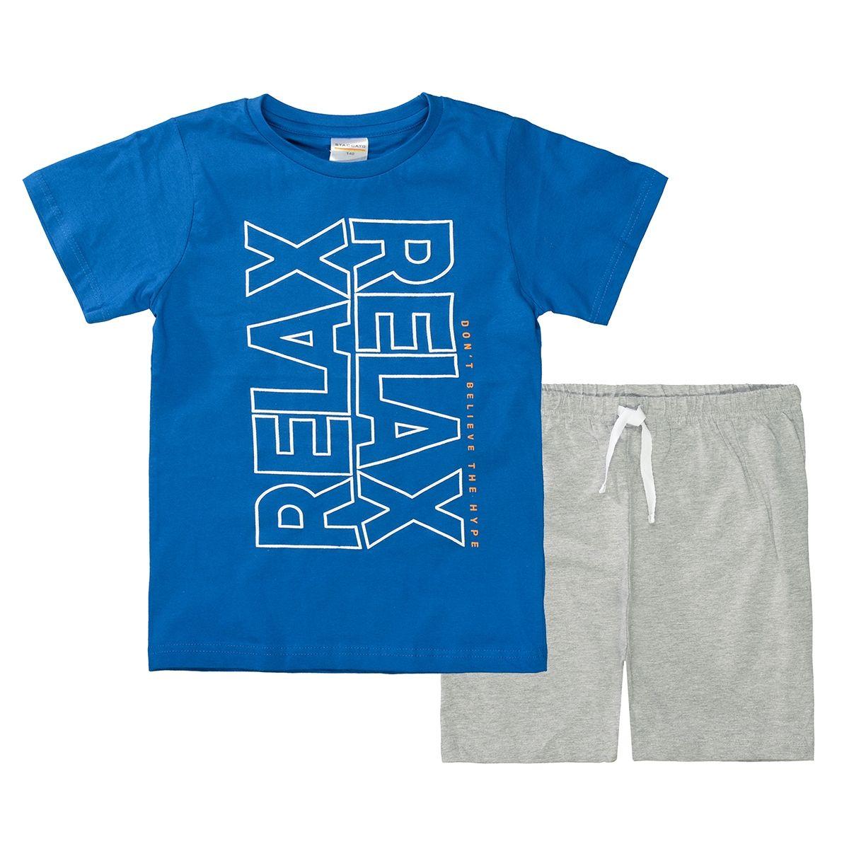 Shorty Pyjama RELAX - Blue Grey Melange