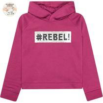 Hoodie Wendepailletten #Rebel! - Magenta