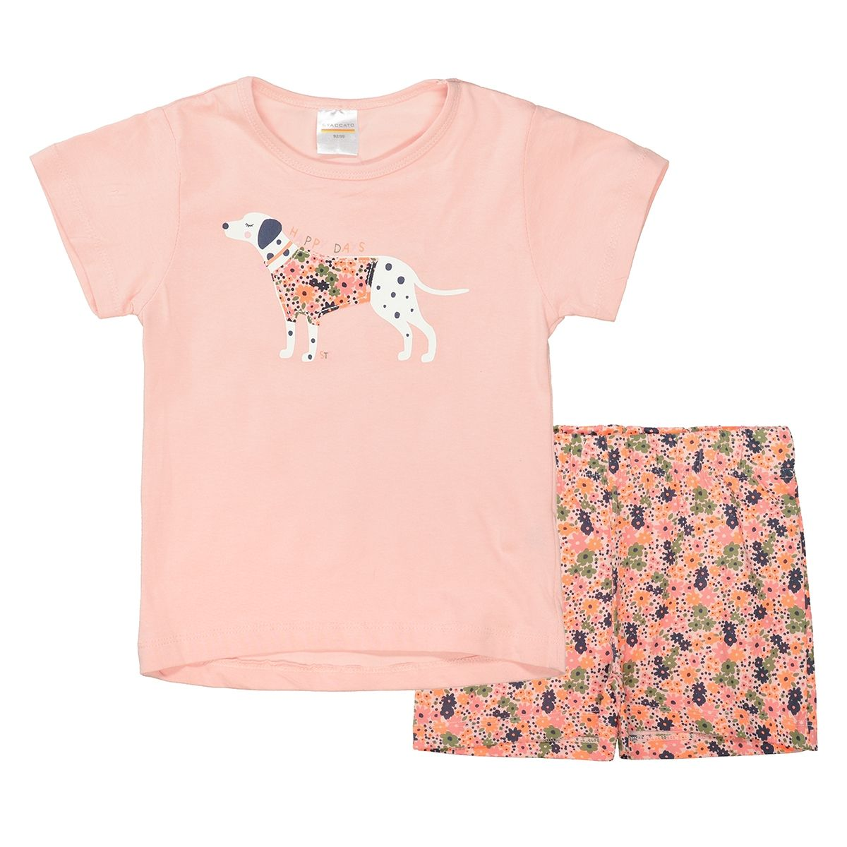 Shorty Pyjama HAPPY DAYS - Blush Flower