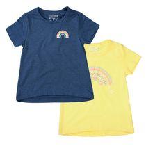 2er-Pack T-Shirts mit Regenbogen-Details - Bunt Sortiert
