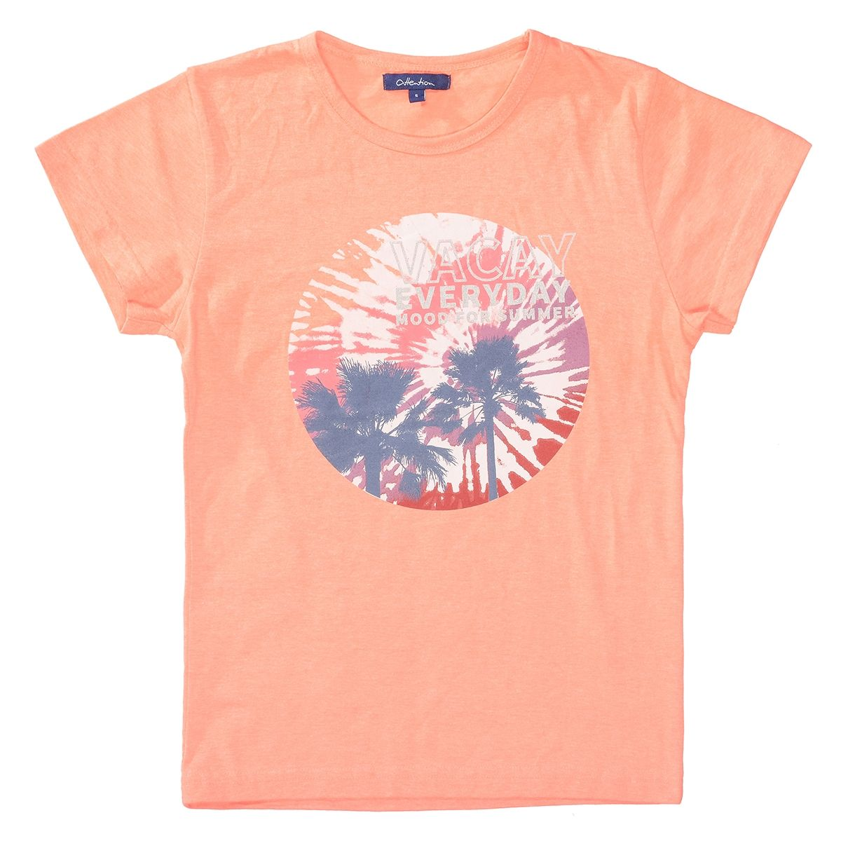 ATTENTION T-Shirt mit Print - Neon Coral