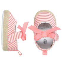 Baby Schuhe mit Streifen - Rot