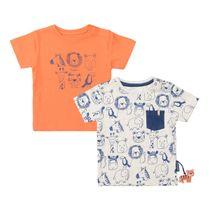 2er-Pack T-Shirts mit Print - Bunt Sortiert