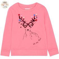 WENDEPAILLETTEN Sweatshirt Rentier - Flash Pink
