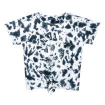 ATTENTION  T-Shirt mit Batikmuster - Black