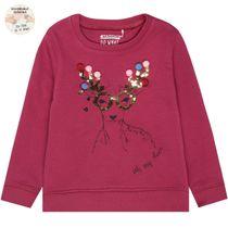 WENDEPAILLETTEN Sweatshirt Rentier - Deep Berry