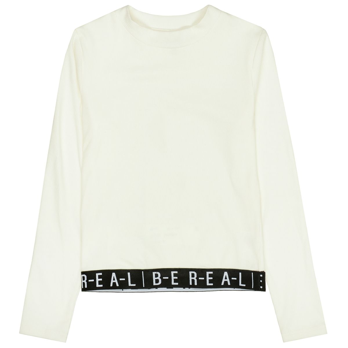 ATTENTION Rippshirt BE REAL - Offwhite